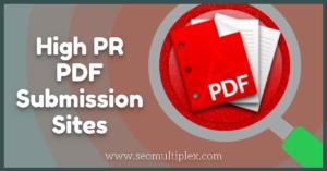 PDF Submission Sites