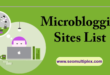 micro blogging sites