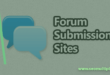 free forum submission sites